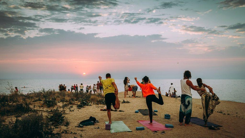 Большой мат для йоги